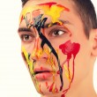 Stock Photo: Mface painted with expression