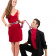 Woman in control of a man — Stock Photo #31197633
