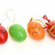 Hand painted easter eggs on white background. Isolated on white — Stock Photo #35126557