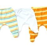 Постер, плакат: Close up of a baby pants isolated striped infant pants