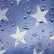 Rain on the American Flag — Stock Photo