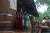 Root beer bottles — Stock Photo