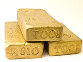 Stack of Gold Bars — Stock Photo