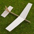 Balsa Wood Toy Model Airplane - Stock Photo