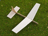 Balsa Wood Toy Model Airplane — Stock Photo
