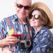 Older couple on vacation — Stock Photo