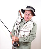 Senior Retired Fisherman — Stock Photo