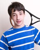 Teenager Boy Tennis Player — Stock Photo