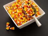 Halloween Candy Corn Buffet — Stock Photo