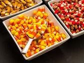 хэллоуин конфеты кукурузы шведский стол — Стоковое фото
