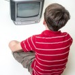Boy Watching Television — Stock Photo