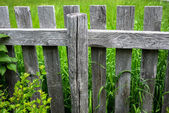 Old Rustic Wooden Fence — Stockfoto