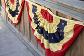 Fourth of July Red White and Blue Patriotic Bunting — Stock Photo