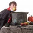 Success Bobbing for Apples — Stock Photo