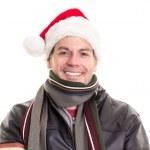 Man wearing Santa Claus hat — Stock Photo #16198711