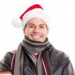 Man wearing Santa Claus hat — Stock Photo #16198711