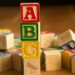 Wooden Toy Alphabet Blocks - Stockfoto