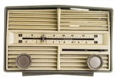 Old AM FM Radio — Stock Photo