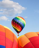 Hot air ballooning — Stock Photo