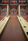 Midway carnival arcade bowling game — Stock Photo