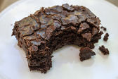 Brownie with bite — Stock Photo