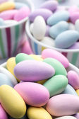 Colorful pastel jordan almond candy — Stock Photo