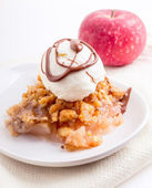 Apple Crisp Ala Mode — Stock Photo