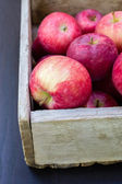 Box of Red Apples — Stock Photo
