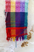 Handmade colorful scarf — Stockfoto