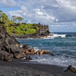 Waianapanapa State Park's Black Sand Beach Maui Hawaii — Stock Photo