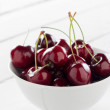 Bowl of cherries — Stock Photo