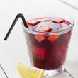 Glass of Spanish sangria — Stock Photo