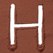 Stock Photo: Letter H made of cocopowder