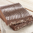 Chocolate with puffed rice - Stock Photo