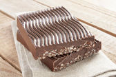 Chocolate with puffed rice — Stockfoto