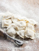 Preparing homemade ravioli — Stock Photo