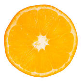 Slice of orange on white background — Foto de Stock