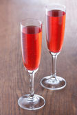 Kir royale cocktail preparati in modo tradizionale — Foto Stock