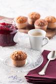 Delicious romantic madeleine breakfast — Stock Photo
