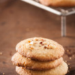 Stock Photo: Pile of homemade almond cookies