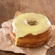 Stock Photo: Yellow fondant croissant and donut mixture
