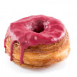 Stock Photo: Red fruits fondant croissant and donut mixture