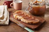 Toast with creme de marrons — Stock Photo