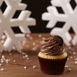 Oreo cupcake on Christmas background — Stock Photo #35795477