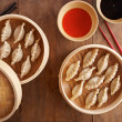 Homemade dim-sum asian dumplings — Stock Photo