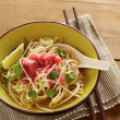 Beef meat rice noodle pho soup — Stock Photo #36333621