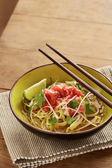 Sopa de carne de res carne arroz fideos pho — Foto de Stock