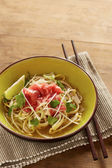 Beef meat rice noodle pho soup — Stock Photo