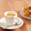 Having coffee and croissants — Foto de Stock