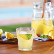 Foto de Stock  : Glass of homemade lemonade